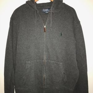 Polo Ralph Lauren Grey Zip Up Green Logo M